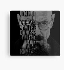 Heisenberg Knocks Metal Print