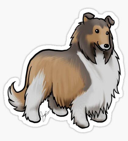 Collie Glossy Sticker