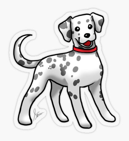 Dalmatian Transparent Sticker