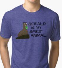 Camiseta de tejido mixto Gerald es mi Espíritu Animal