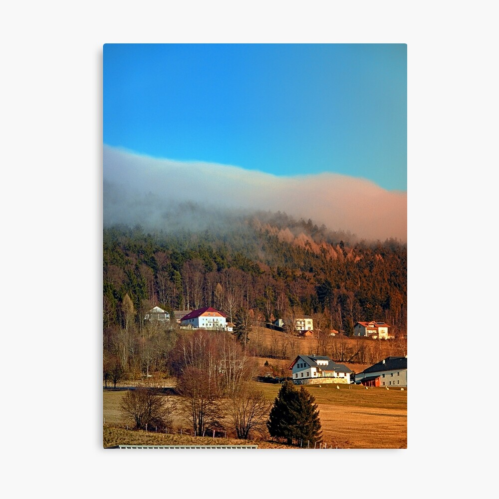 Clouds over the mountains   landscape photography Canvas Print