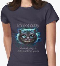 Camiseta entallada para mujer Cheshire Cat Quote