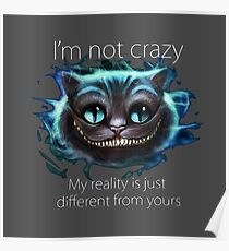 Cheshire Cat Quote Poster