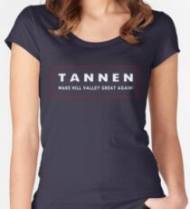 TANNEN: Make Hill Valley Great Again! Women's Fitted Scoop T-Shirt
