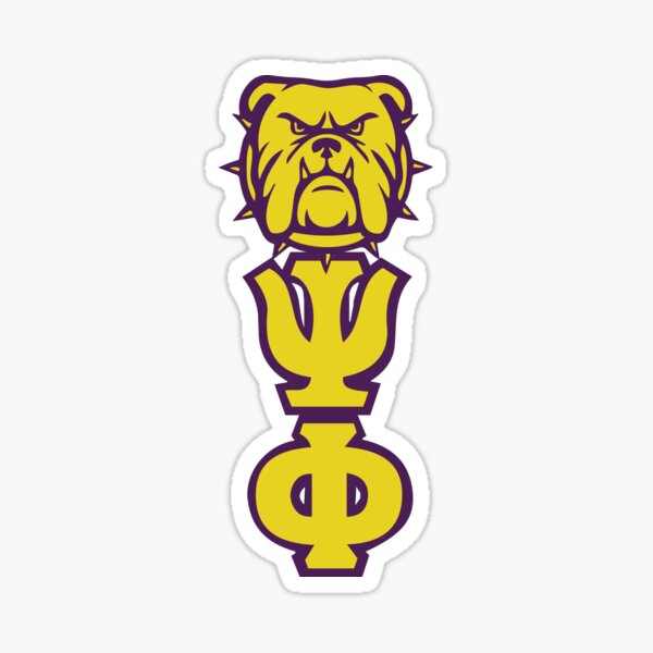 Que Dog Omega Lila Gold Atomic Psi Phi Sticker