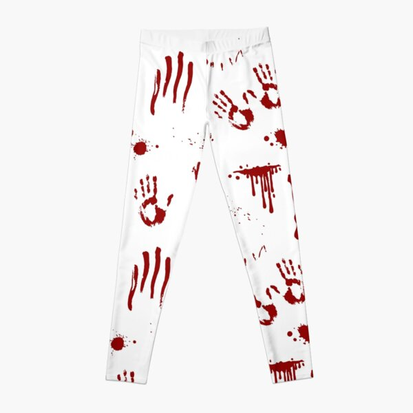Bloody Handprints and Blood Splatters Pattern Leggings