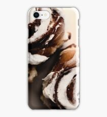 cinnamon buns abstract background iPhone Case/Skin