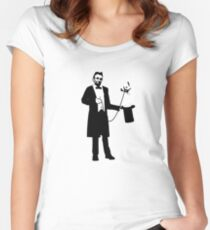 Lincoln's Llama Trick Women's Fitted Scoop T-Shirt
