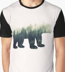 Bear in the Forest Graphic T-Shirt
