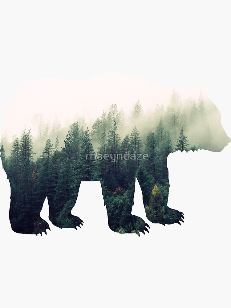 Bear in the Forest by rhaeyndaze