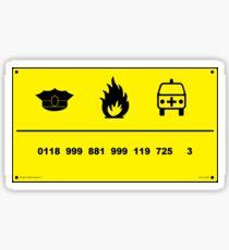 0118 999 881 999 725 3 Sticker