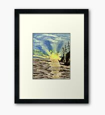 Sailing into the Brightness Framed Print
