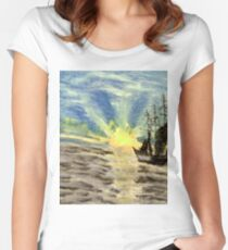 Sailing into the Brightness Women's Fitted Scoop T-Shirt