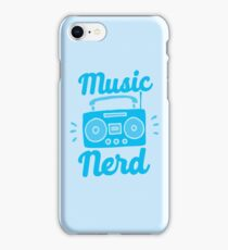 Music Nerd (with awesome 80s cassette speaker sound system) iPhone Case/Skin