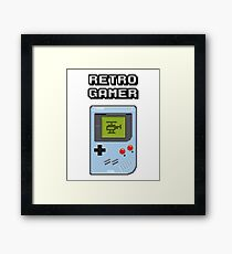 RETRO GAMER HANDHELD Game Console Framed Print