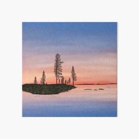 Summer is coming to an end - Lapland8seasons Art Board Print