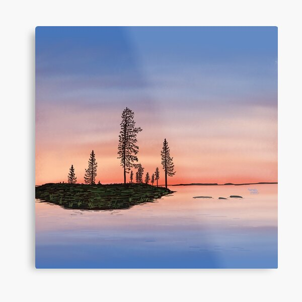 Summer is coming to an end - Lapland8seasons Metal Print