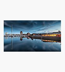 River Tawe and Swansea Marina Photographic Print
