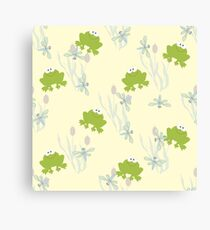 Childrens background with leaguetime Canvas Print