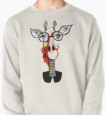 Hipster giraffe is hipster Pullover