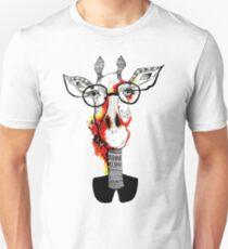 Hipster giraffe is hipster Unisex T-Shirt