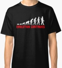Funny Fireman Evolution Of Man Continues Classic T-Shirt