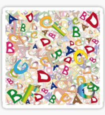 Collage of English letters Sticker