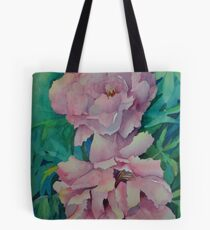 Two Peonies Tote Bag