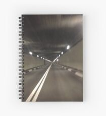 tunnel light Spiral Notebook