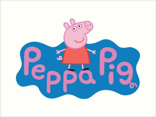 Peppa Pig Logo Art Print By Emielpit5