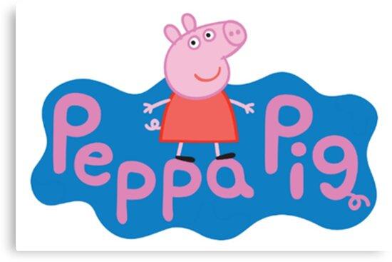 Peppa Pig Logo Canvas Print By Emielpit5