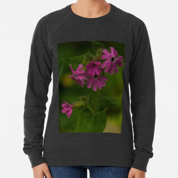 Pink Campion in Prehen Woods, Derry Lightweight Sweatshirt