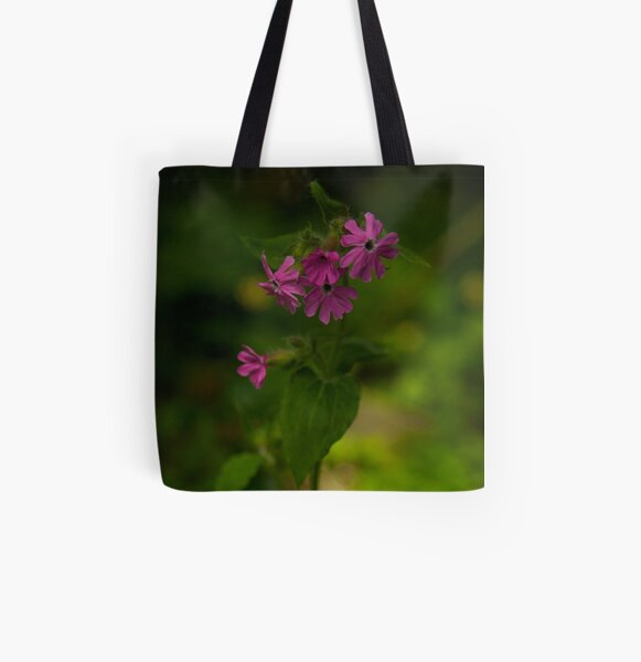 Pink Campion in Prehen Woods, Derry All Over Print Tote Bag