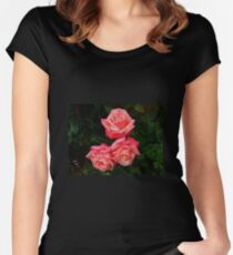 Blushing Rose Beauties Women's Fitted Scoop T-Shirt