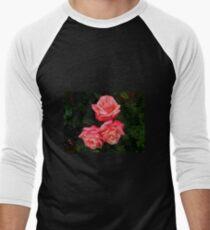 Blushing Rose Beauties Men's Baseball ¾ T-Shirt