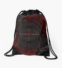 Bend it red Drawstring Bag
