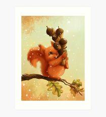Stupid Squirrel Art Print