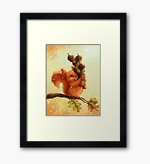 Stupid Squirrel Framed Print