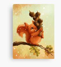 Stupid Squirrel Canvas Print