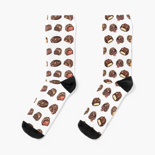 Chocoholic Truffle Pattern Socks