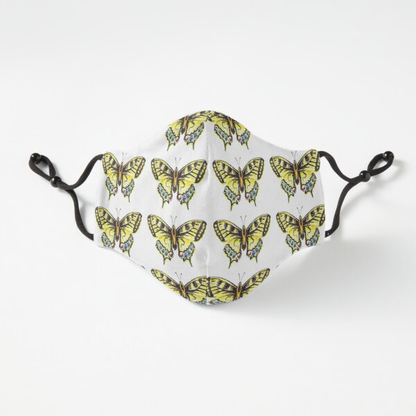 Yellow Spring Butterfly Pattern Fitted 3-Layer
