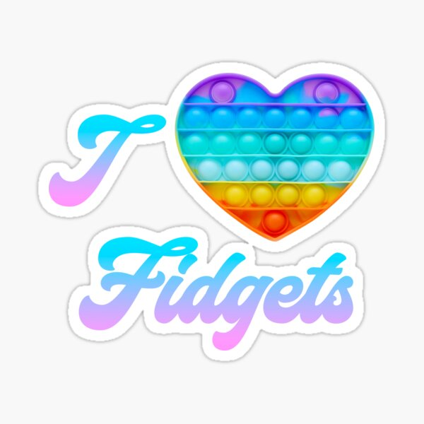 I love Fidget Toys Sticker