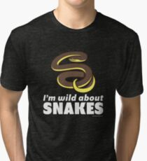 I'm Wild About Snakes Tri-blend T-Shirt