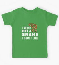 I Never Met A Snake I Didn't Like Kids Tee