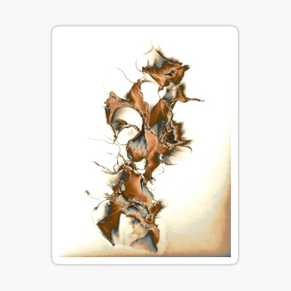 Abstract in various browns and greys, white background Sticker