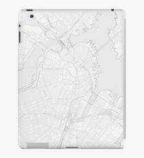 Simple map of Boston city center iPad Case/Skin
