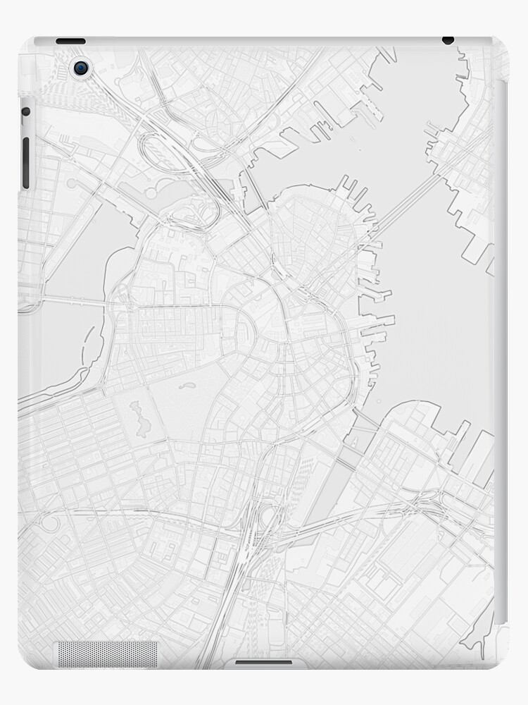 Simple map of Boston city center iPad Cases Skins by Mapcandy