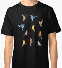 Vintage Wallpaper Birds on Wood Classic T-Shirt