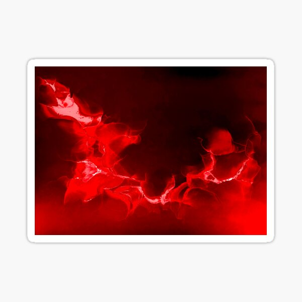 Red abstract on red and black background Sticker