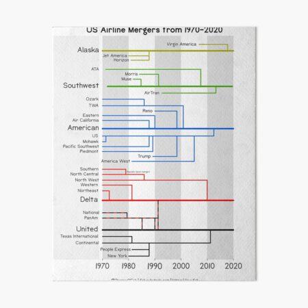 Airline Mergers Art Board Print